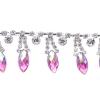 Rhinestone Trim Navette 5Yd Spool 15mm Rose Aurora Borealis/silver